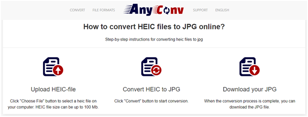 These websites help you convert Heic to JPG